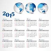 2015 calendar. Year calendar.