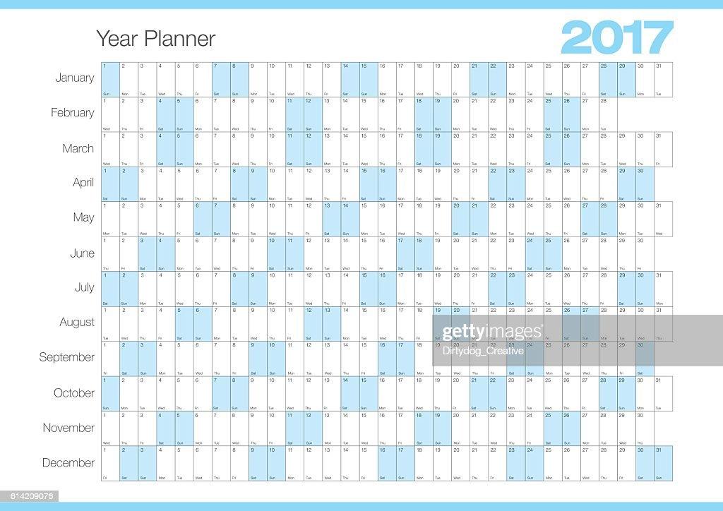 Calendar Planner Vector Free : Calendar year planner chart vector art getty images