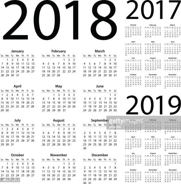 Calendars 2018 2017 2019 Simple - American International Version