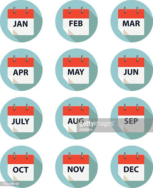 calender by month - month stock illustrations