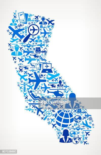 California Aviation and Air Planes Vector Graphic