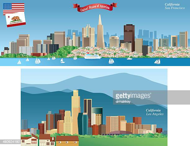 California Citys Skyline