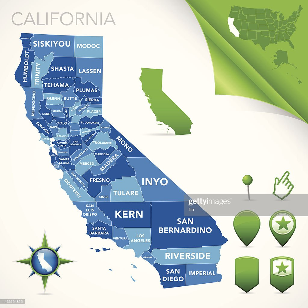 California County Map High-Res Vector Graphic - Getty Images