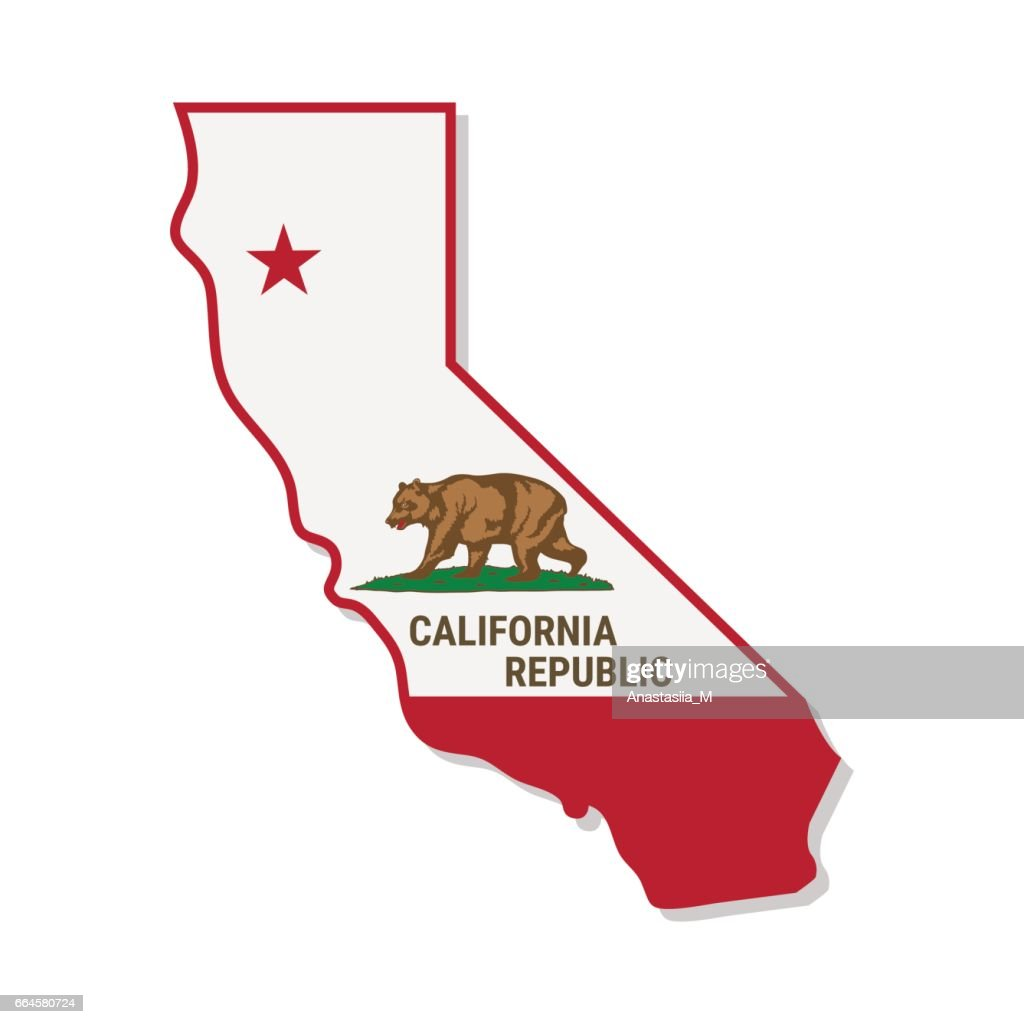 California Independence Campaign. Vector illustration.