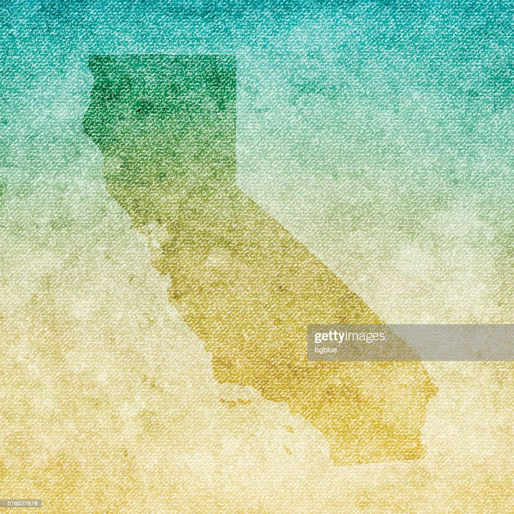 California Map on grunge Canvas Background