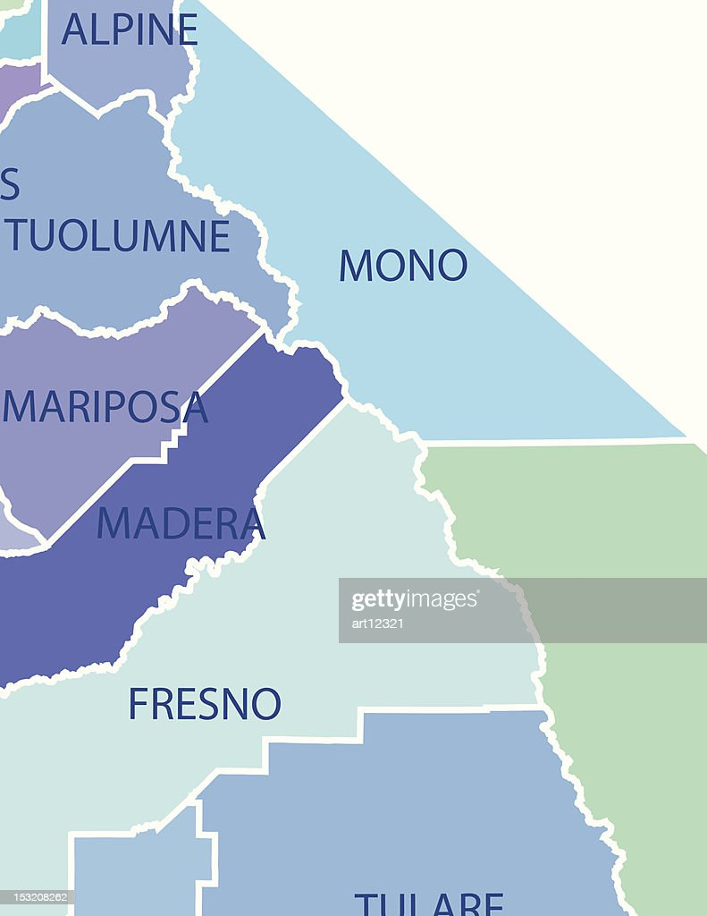 California Map with Counties and Activities & Community Assistance Icons