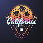 California retro style illustration