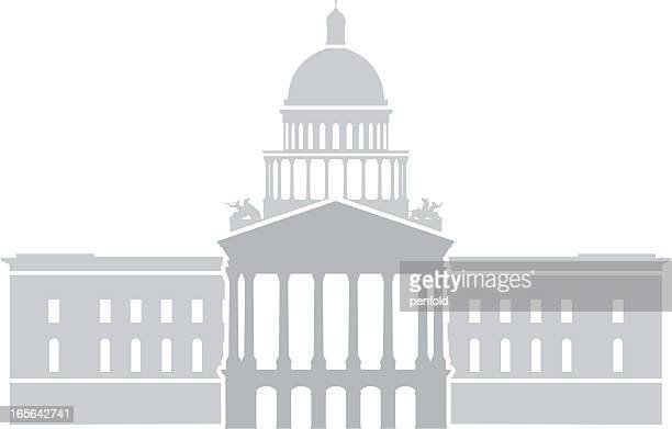 california state capitol - architectural dome stock illustrations, clip art, cartoons, & icons