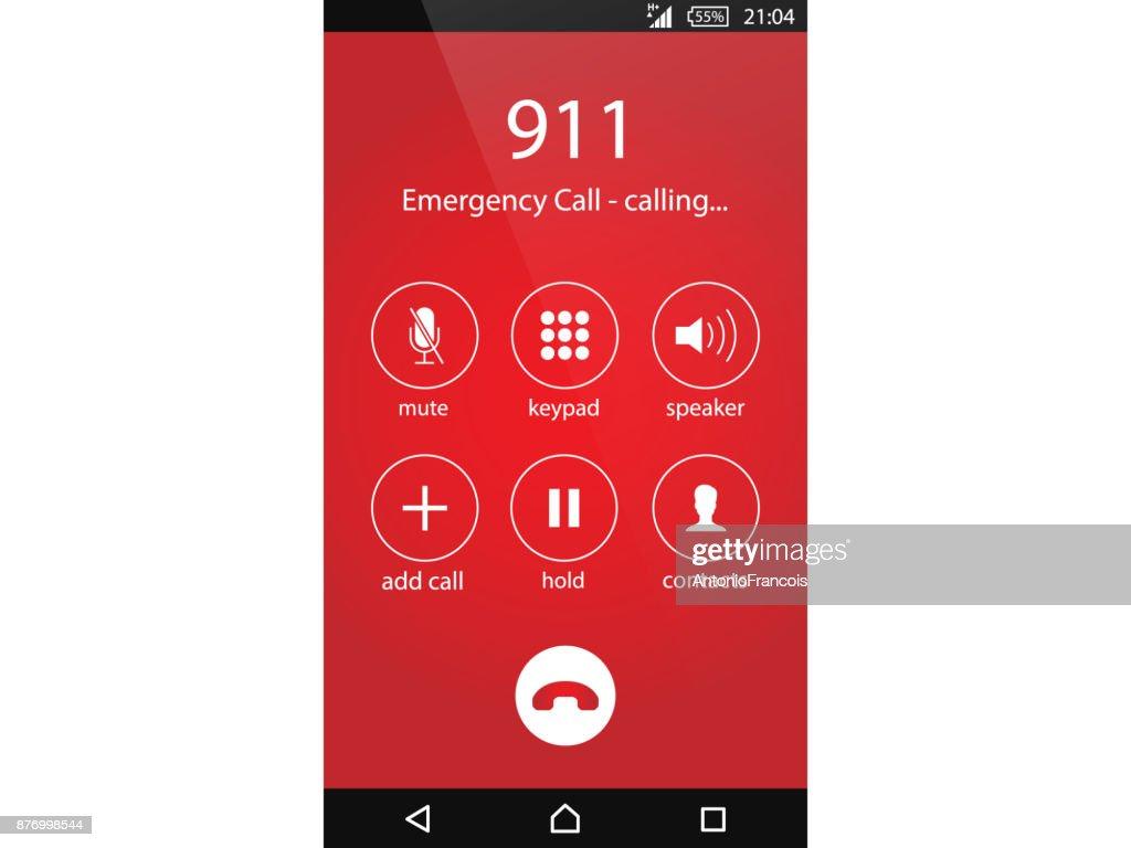 Call 911, emergency call concept Modern flat design vector illustration