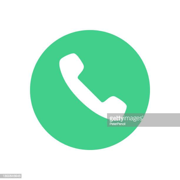call answer icon. phone dial symbol. vector illustration - glühend stock illustrations