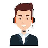 call center agent avatar character