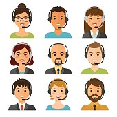 Call center agents avatars