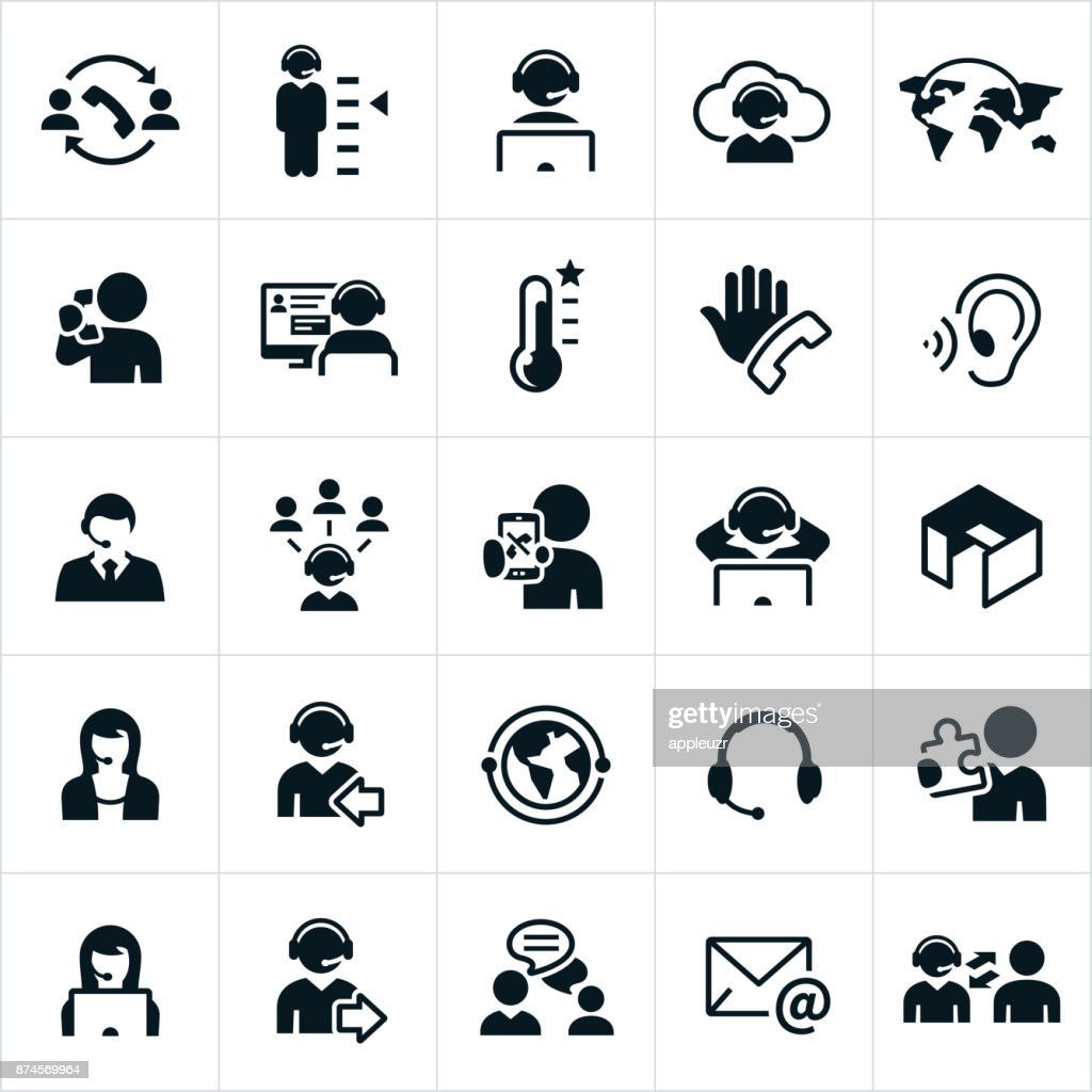 Call Center Icons : stock illustration