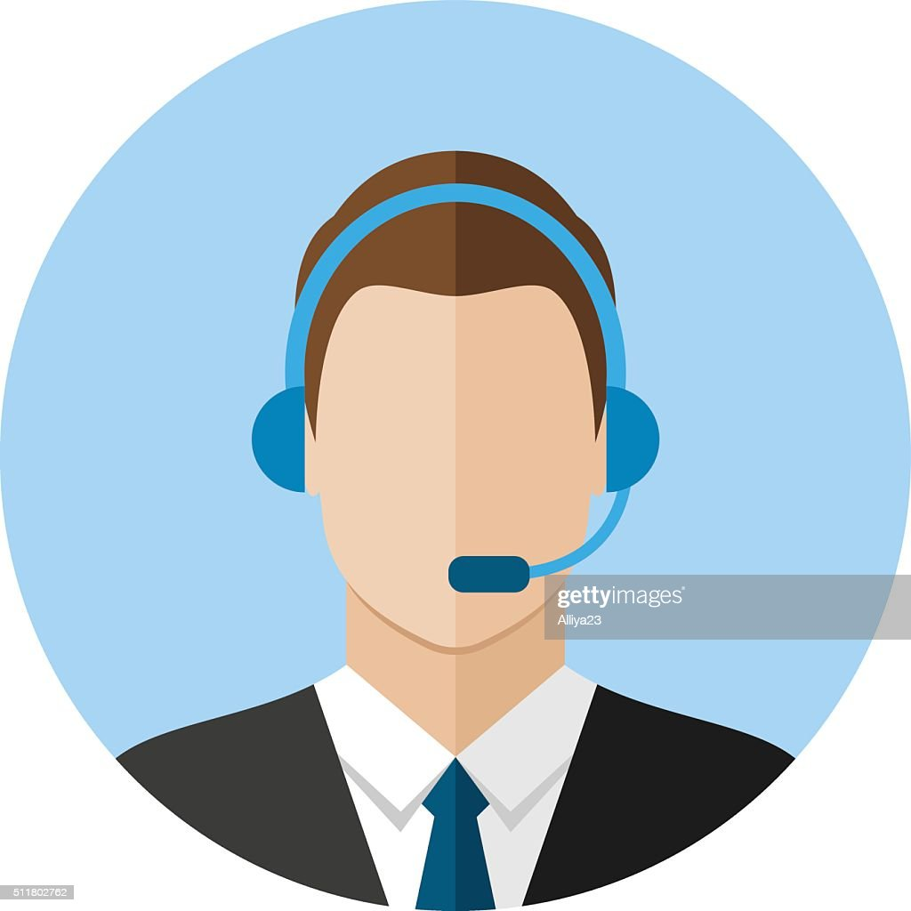 Call center operator icon