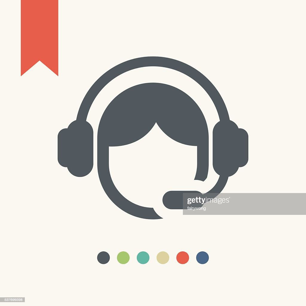 call center operator icon : stock illustration