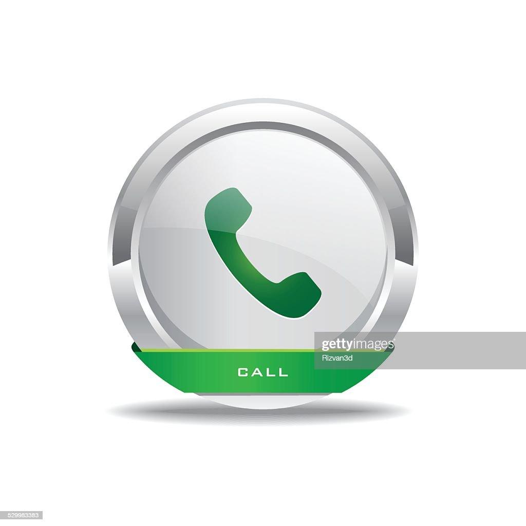Call Circular Vector Green Web Icon Button