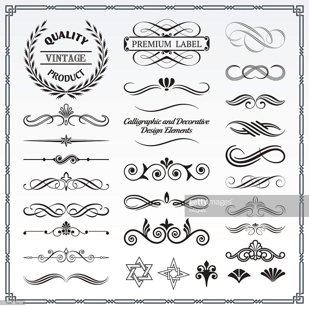 Calligraphic and Decorative Deisgn Patterns
