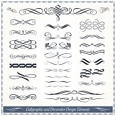 Calligraphic and Decorative Design Patterns Collection