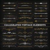 Calligraphic Chalkboard Elements