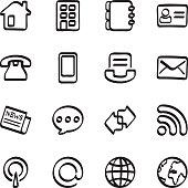 Calligraphic communication icons