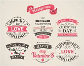 Calligraphic Design Elements Valentine's Day