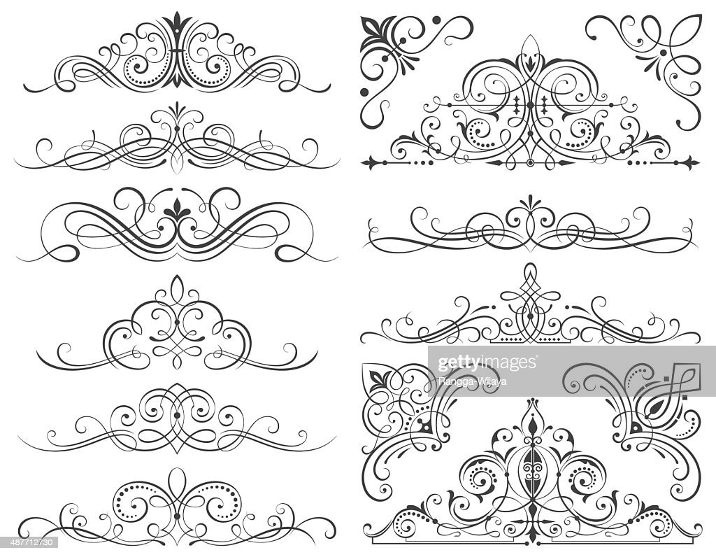 Calligraphic Frames And Scroll Elements