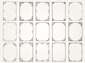 Calligraphic frames. Borders corners ornate frames for certificate floral classic vector designs collection