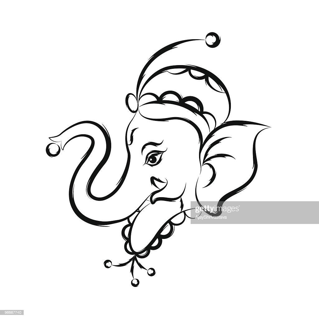 Calligraphic Ganesha