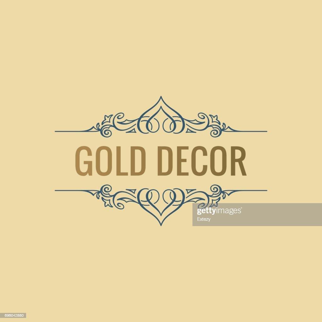 Calligraphic Luxury line symbol. Flourishes elegant emblem. Royal vintage divider design