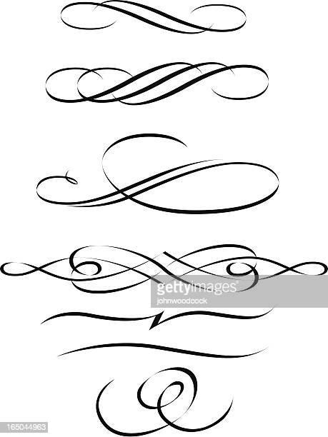 calligraphic scrolls