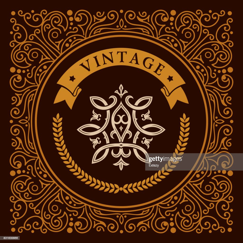 Calligraphic square Ornament Frame Lines. Restaurant menu. Luxury vintage ornate greeting card with typographic design.