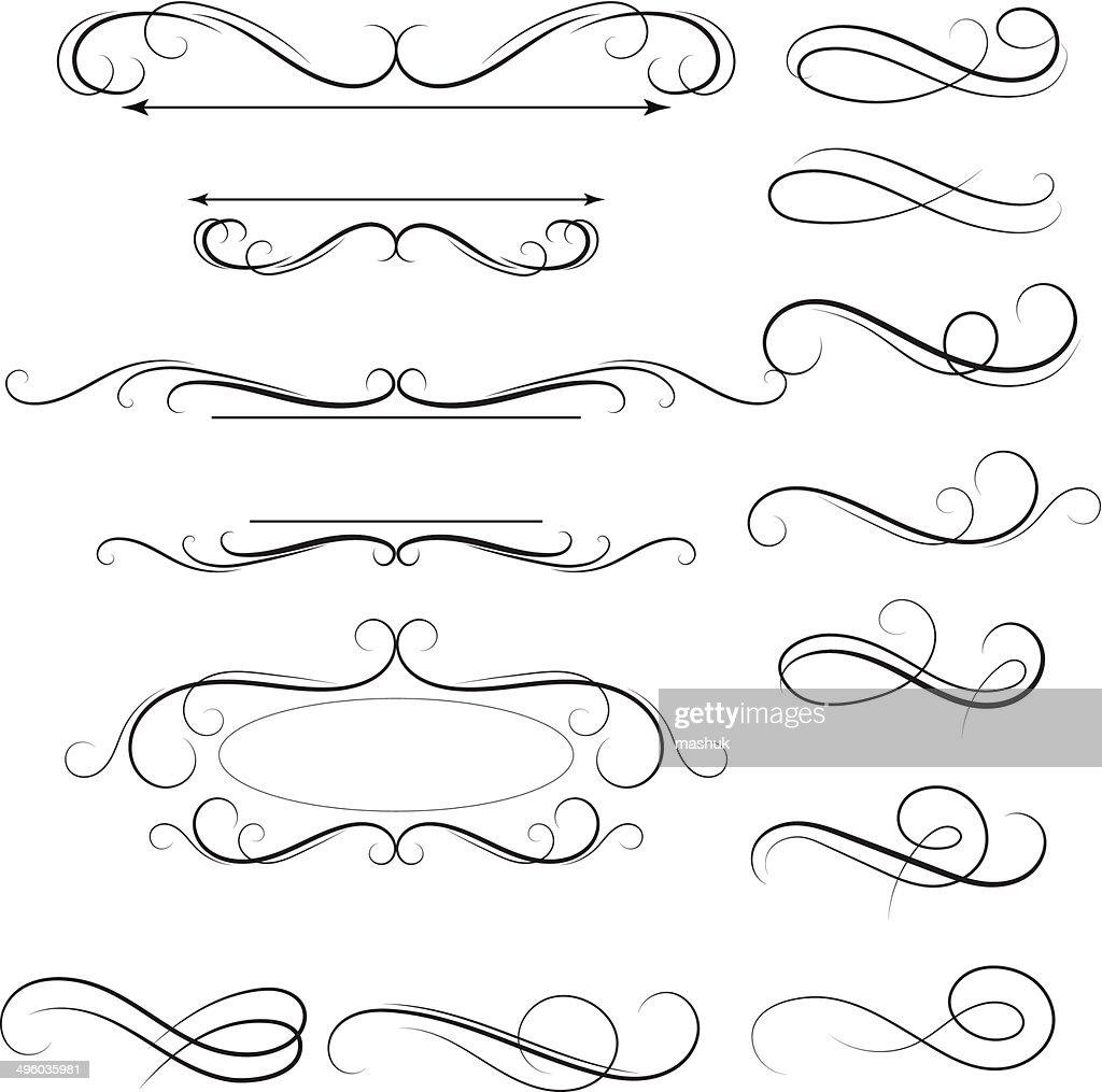 Calligraphic swirl : stock illustration