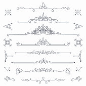 Calligraphic vector dividers
