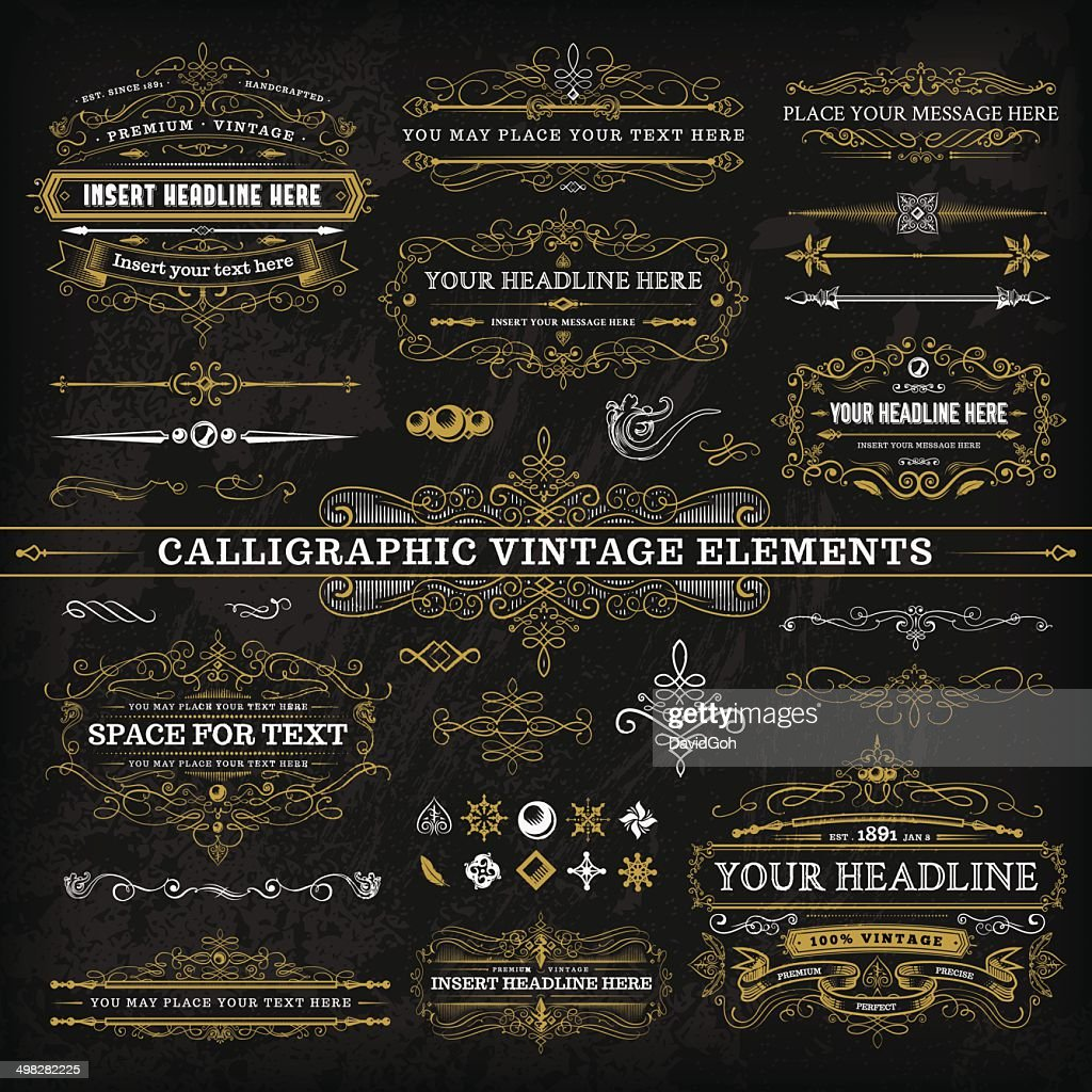 Calligraphic Vintage Elements - Complete Set