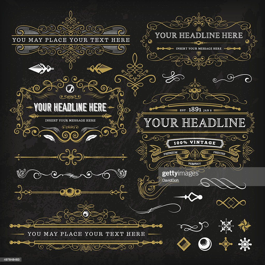 Calligraphic Vintage Elements Set