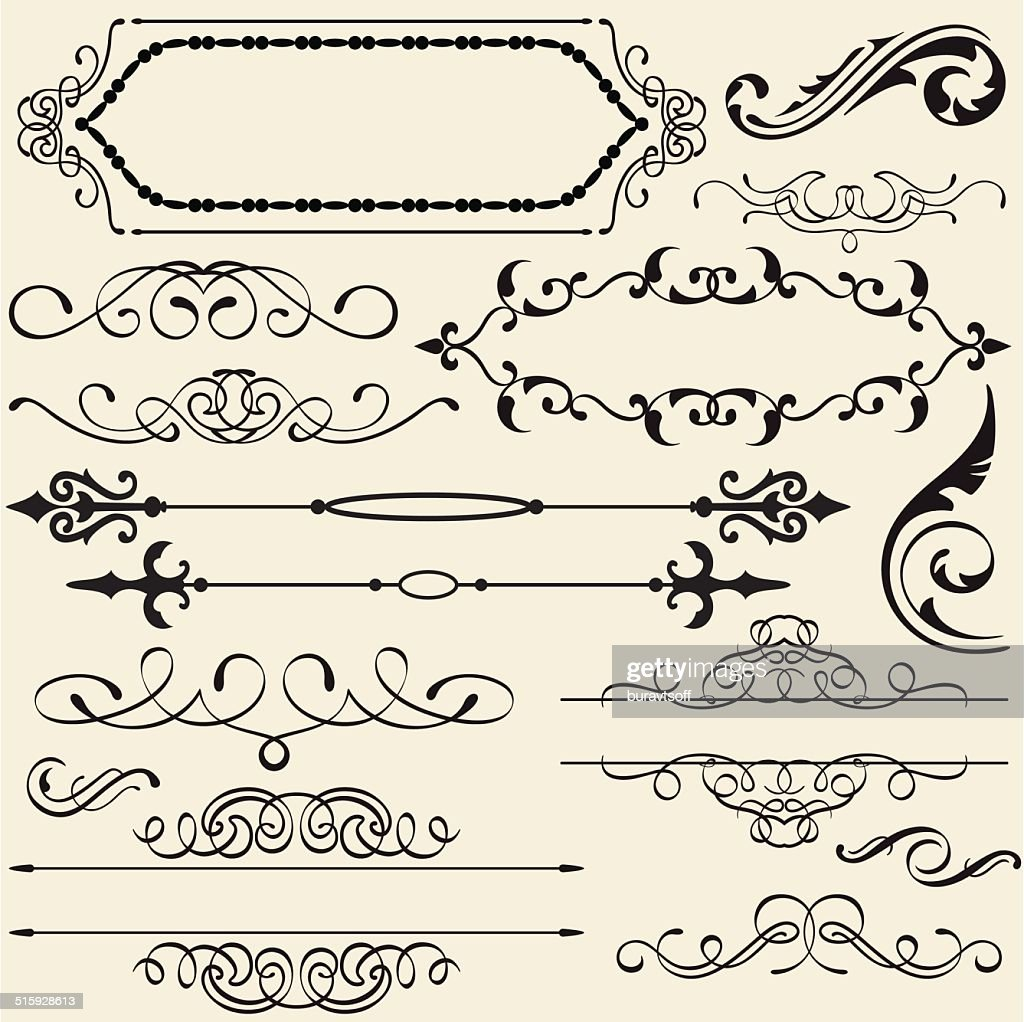 Calligraphy design set