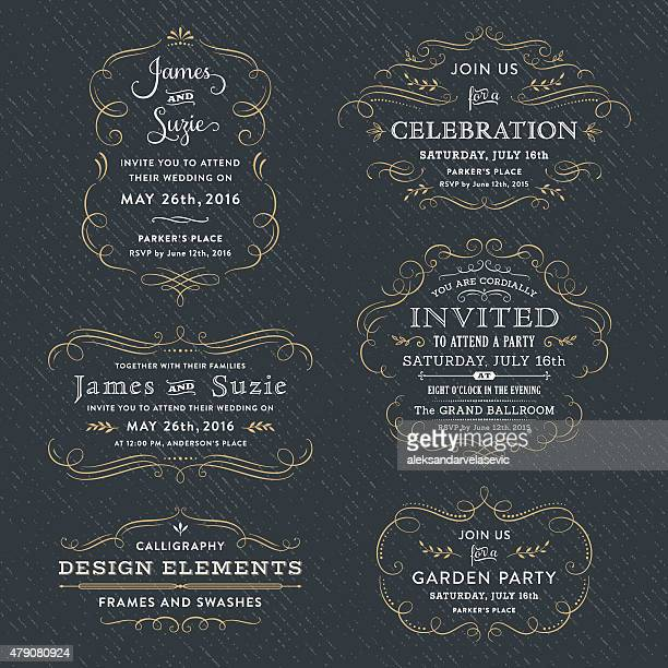 Calligraphy Party, Wedding Invitations