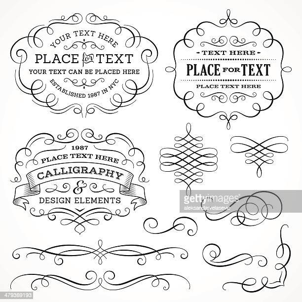 Calligraphy Swirls and Frames