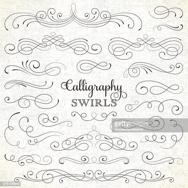 Calligraphie tourbillons