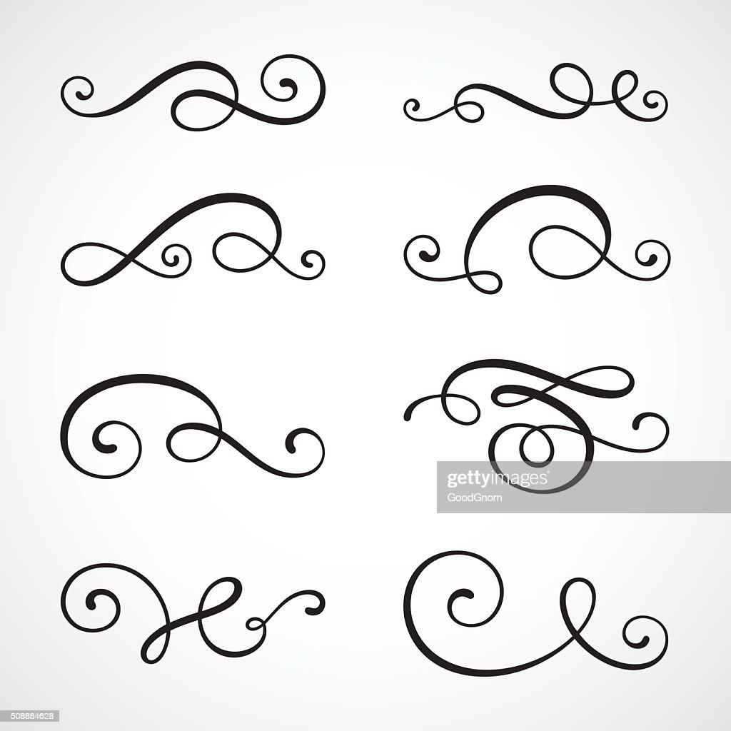 Kalligrafie swirls : Stock-Illustration