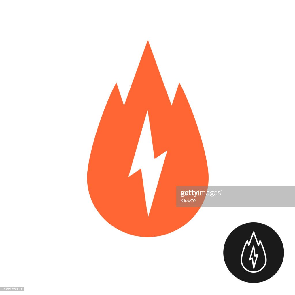 Calorie burn icon with fire and lightning bolt.