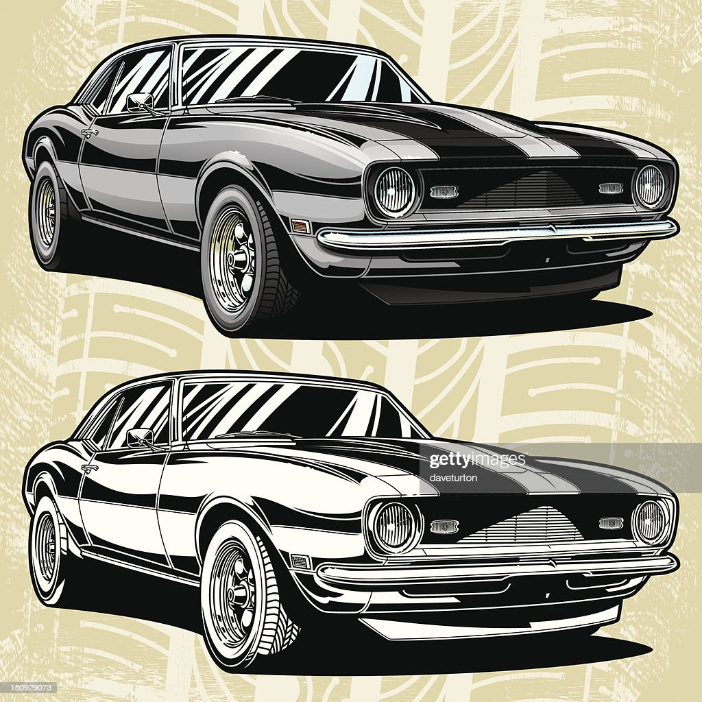 Camaro Classic 68 Vector Art   Getty Images