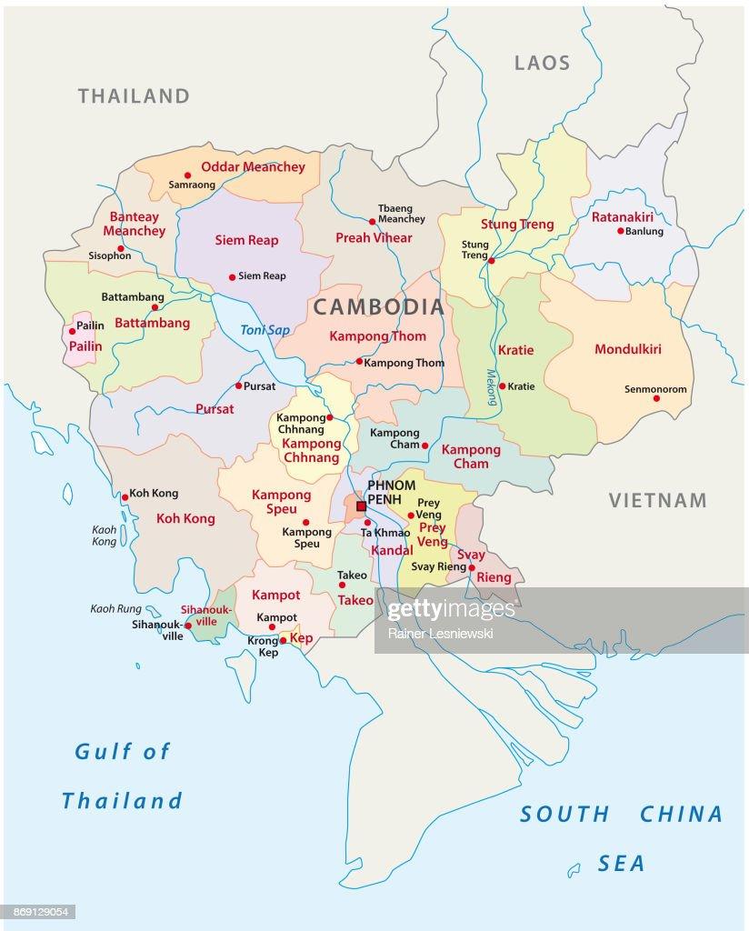 Cambodia administrative map
