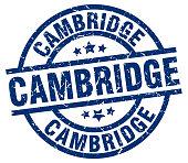 Cambridge blue round grunge stamp