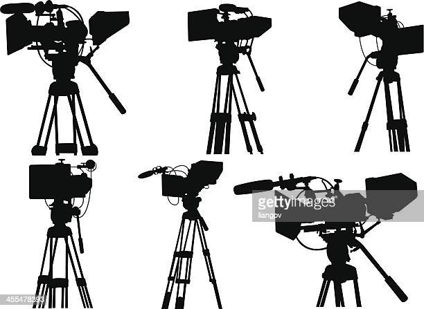 camcorder - camera tripod stock illustrations, clip art, cartoons, & icons
