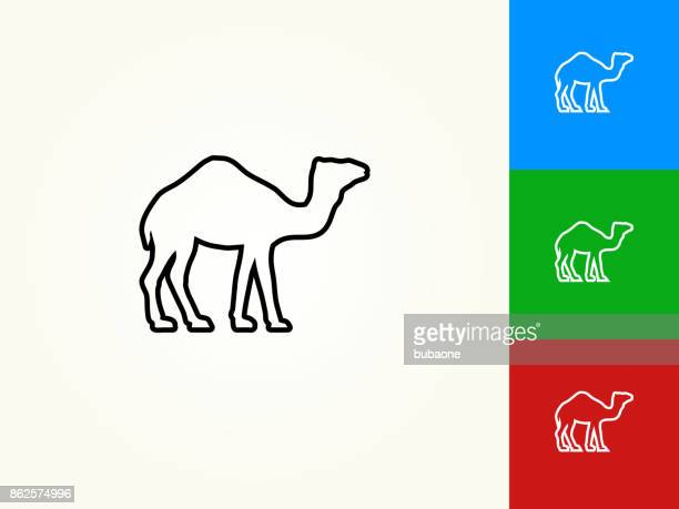 Icono lineal movimiento negro Camel