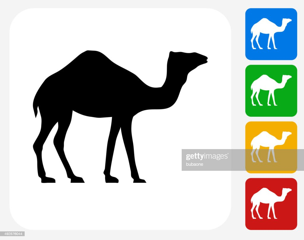 Camel Icon Flat Graphic Design