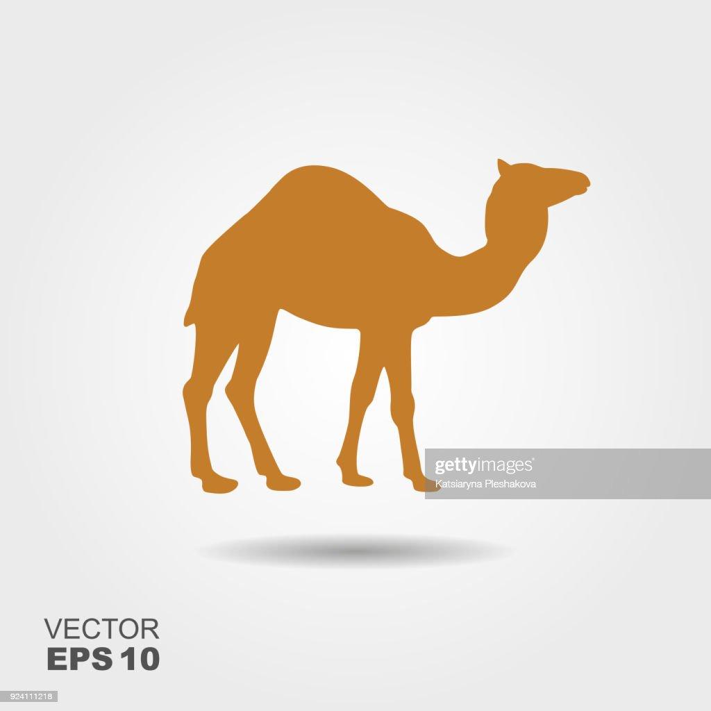 Camel icon silhouette vector illustration