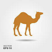 Camel icon silhouette vector illustration