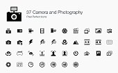 37 Camera and Photography Pixel Perfect Icons